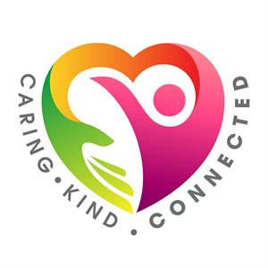 Caring kind connected logo