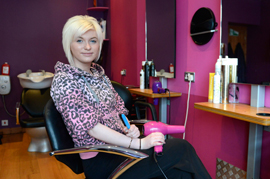 Chelsea Hood, a Modern Apprentice at PROSTYLZ hair salon